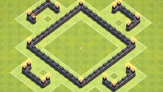 Clash of Clans TH4 Trophy Base   Clash of Clans TV