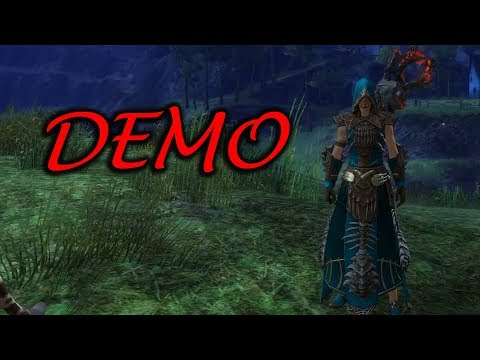 GW2 Primeval Dervish Outfit and Suntouched Scythe Staff Demo