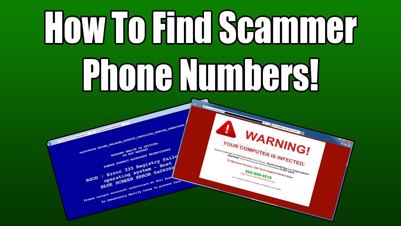 How To Find Scammer Phone Numbers - YouTube