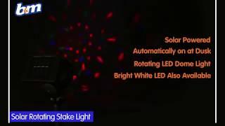 Solar Powered Rotating Stake Light - Multi-Colour | B&M Stores