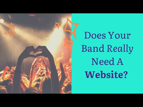 How to Build a Band Website - 3 Things to do FIRST