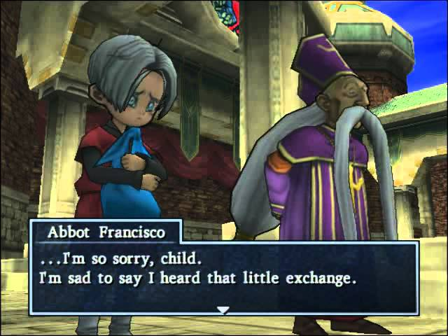 39 Dragon Quest 8 Cut Scene Angelo Discusses His Past At Riverside Chapel Youtube