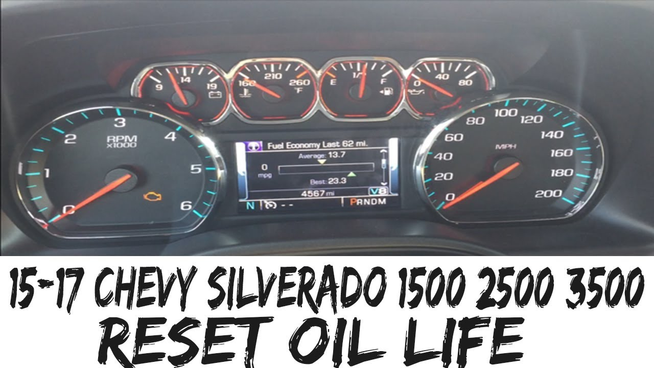 2017 Chevy 3500 >> 2014-2017 Chevy Silverado 1500 2500 3500 Reset OIL LIFE How To - YouTube