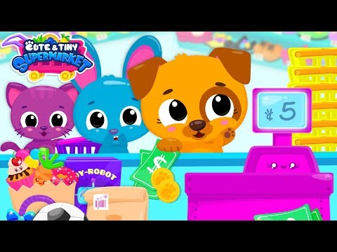 cute-&-tiny-supermarket---baby-pets-go-shopping-for-groceries-&-toys-|-mobile-games-for-toddlers