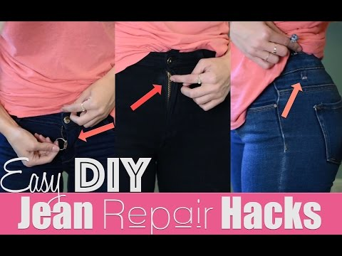 Easy DIY Jean Repair Hacks | How To Revive Your Jeans! | Robeson Design