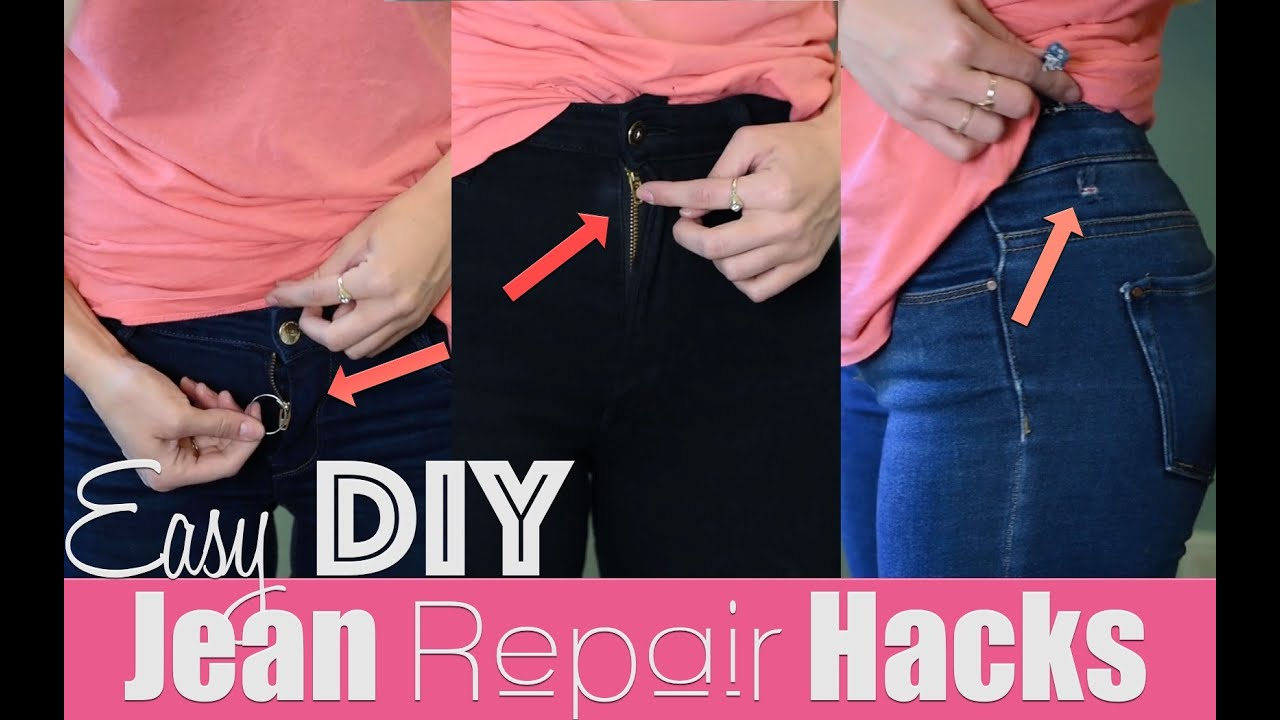 Easy diy jean repair hacks how to revive your jeans youtube solutioingenieria Images