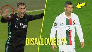 Cristiano Ronaldo 10 Crazy Disallowed Goals l Сanceled Masterpieces!