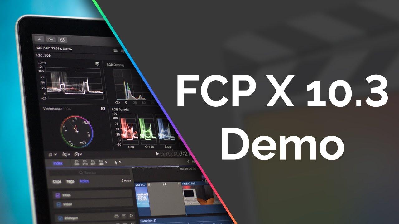 FCPX 10.3 TÉLÉCHARGER