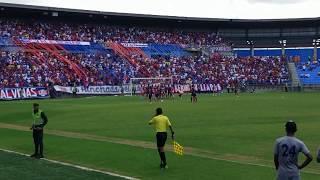 Primer gol Unión Magdalena vs Pereira. Torneo de ascenso 21 Oct 18