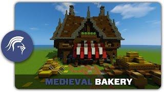 minecraft bakery medieval build building tutorial