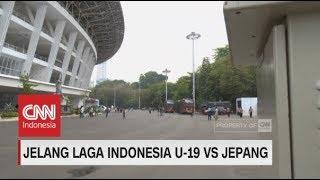 GBK Jelang Laga Timnas Indonesia U-19 vs Jepang