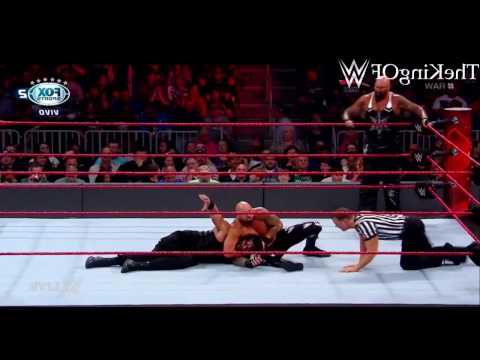 WWE RAW PT BR 13/17 - Roman Reigns vs. Luke Gallows & Karl Anderson  2-on-1 Handicap Match