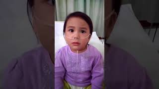 The brave 2 year old baby with Asthma.