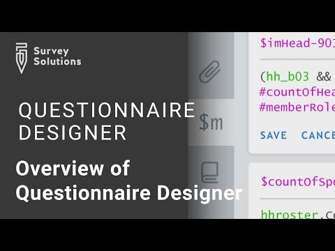 Overview of Questionnaire Designer