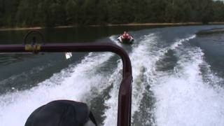 240 Bentley Pontoon pulling tube fast