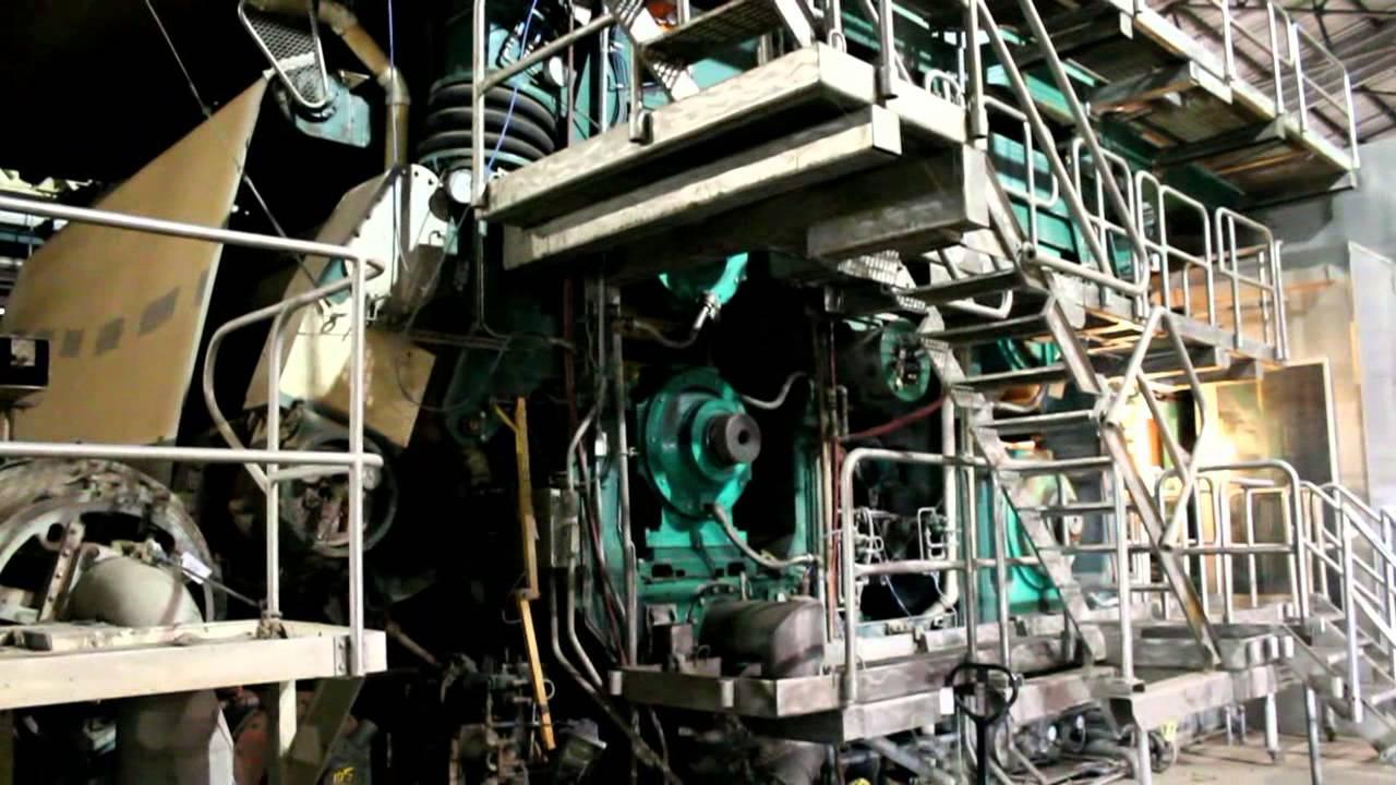 Kraft Paper Machine - OCC Stock Prep - YouTube