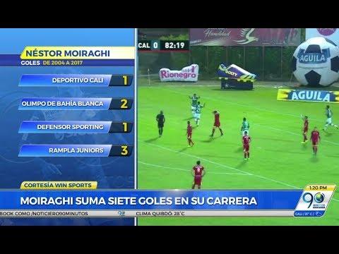 Septiembre 18 2017 Con un solitario gol de Moiraghi el Deportivo Cali volvió al grupo de los 8