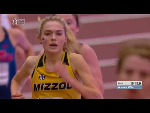 Megan Cunningham wins 2018 SEC Women's 5,000 meter Championship