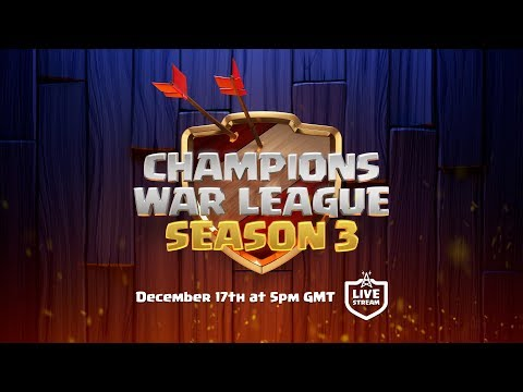 LIVE - Clash of Clans Champions War League Season 3 Finals!