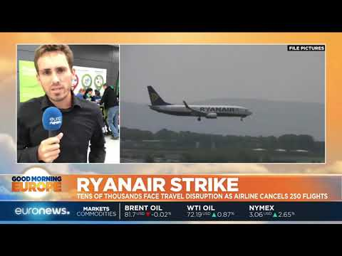 Ryanair Strike: Travel distruption as airline cancels 250 flights