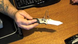 knife review benchmade h axis folder cast handle tanto point combo edge