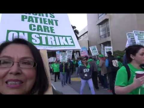 AFSCME 3299 & CWA UPTE Workers Picket UCSF: Regents & Bosses STOP Outsourcing Our Jobs!