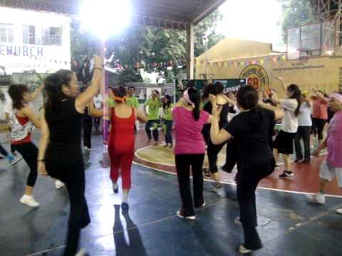 Zumba fitness exercise at Don Antonio June 18, 2011