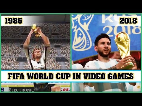 FIFA WORLD CUP video games evolution 1986  2018