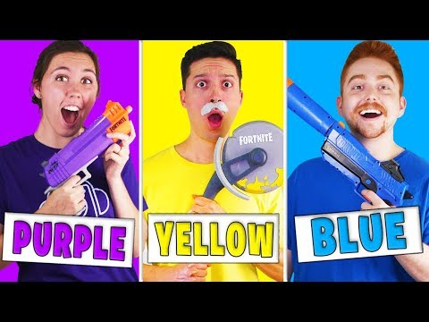 Using Only One Color In FORTNITE Nerf MYSTERY BOX Challenge!