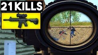 M4 + 6x SCOPE IN CLOSE FIGHT OP? | 21 KILLS SOLO vs SQUAD | PUBG Mobile