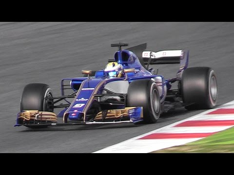 Formula 1 (F1) 2017 Sound at Circuit de Barcelona - Pre-Season Test Day 2 & Day 3