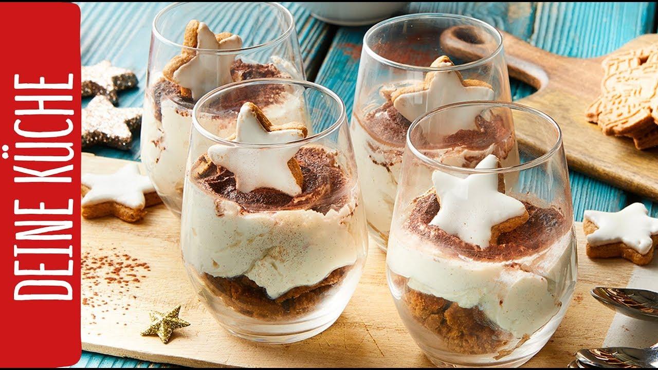 weihnachtliches dessert im glas