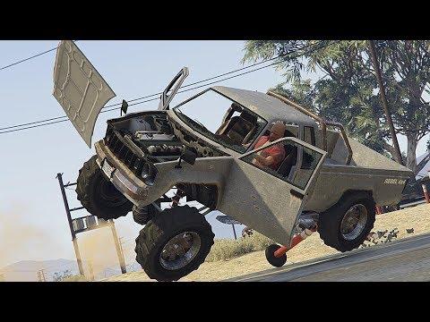 GTA 5 CAR CRASHES COMPILATION!!!!! thumbnail