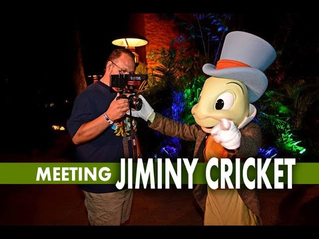 Meeting Jiminy Cricket at Disney's Animal Kingdom Moonlight Magic