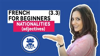 French for Beginners: Funny Lesson 3.3 - learn French Adjectives of Nationalities - Speak French