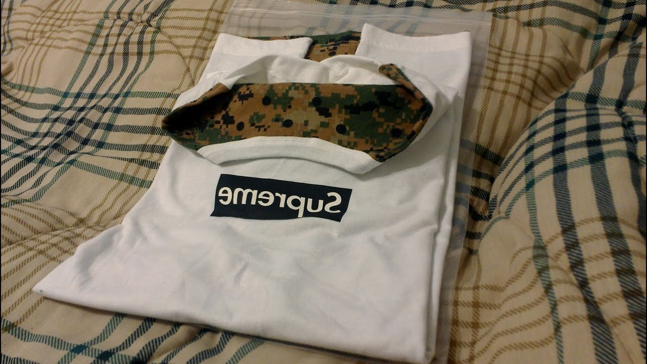 Supreme X Comme Des Garcons SHIRT Olive Camo Tshirt Review Spring Summer 2013 CDG Black Box Logo