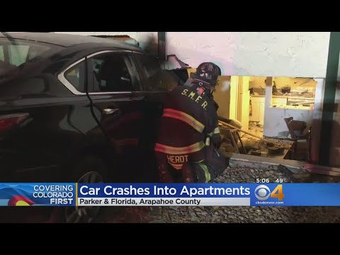 Naked Man Crashes Car Into Apartments