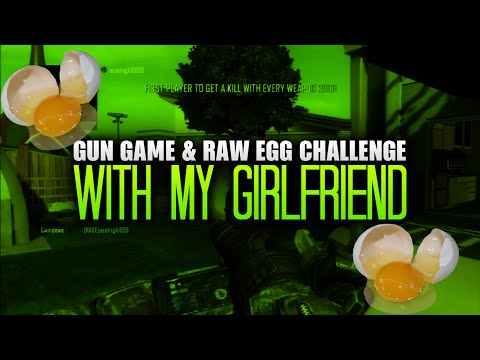 GUN GAME AND RAW EGG CHALLENGE WITH GIRLFRIEND