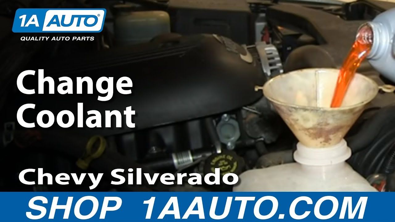 How To Service Change Coolant 2000 06 Chevy Silverado