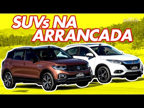 Volkswagen T-Cross x Honda HR-V Touring! Qual novo SUV turbo vence no Arrancadão #13? | Acelerados