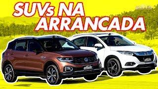Volkswagen T-Cross x Honda HR-V Touring! Qual novo SUV turbo vence no Arrancadão #13?   Acelerados