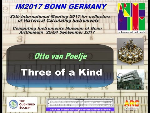 IM2017 Videos: 12. Three of a Kind  - Otto van Poelje -