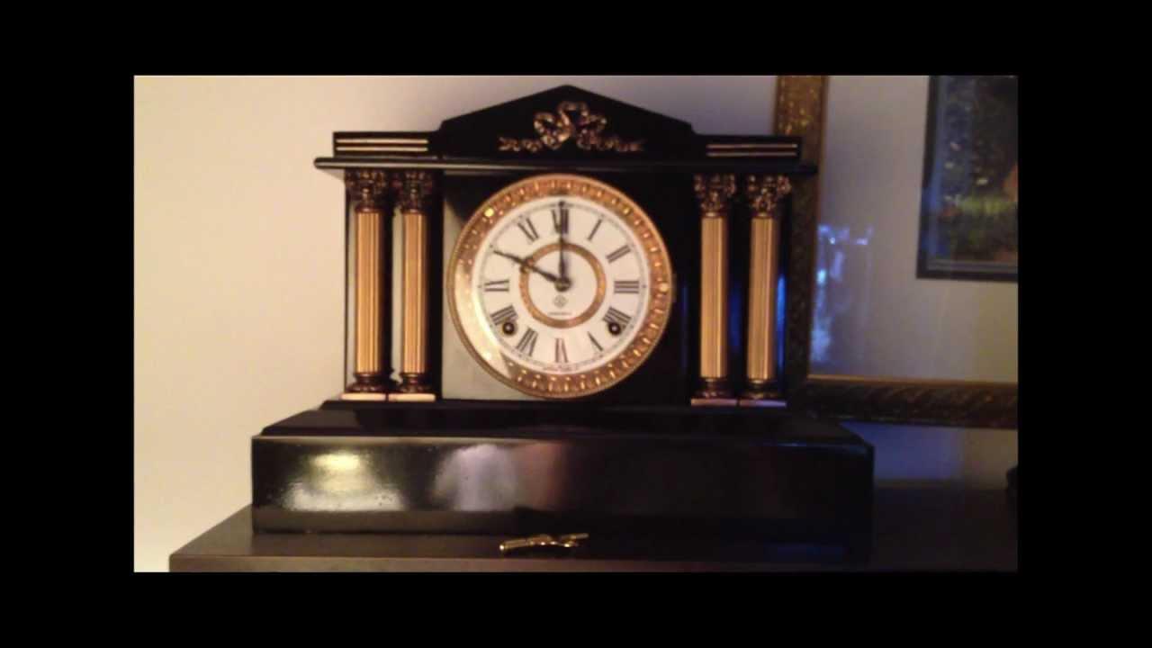 Antique Ansonia Clock BOSTON MODEL circa 1880 IT CHIMES