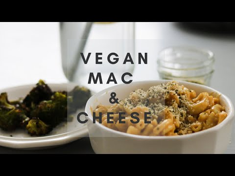 AMAZING VEGAN MAC AND CHEESE WITH BROCCOLI