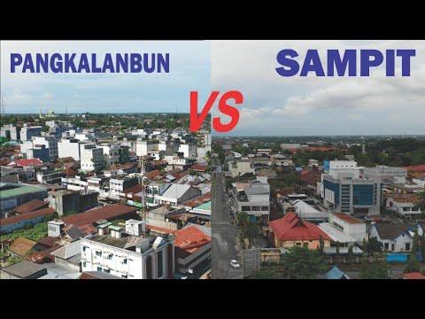 Kota Sampit VS Kota Pangkalan Bun di Kabupaten Kotawaringin Kalimantan Tengah