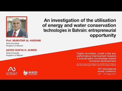 An investigation of the utilisation of energy and water conservation technologies in Bahrain