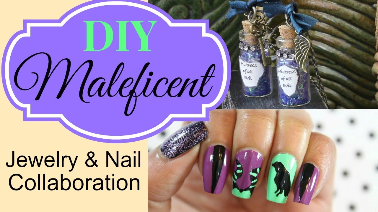 Maleficent Jewelry DIY collab w/ Dee 2012 Nails - YouTube