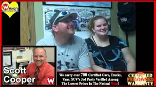 Carrollton, MO truck buyers Rebecca & Cody share their buying experience @wowwoodys Wowcustomers