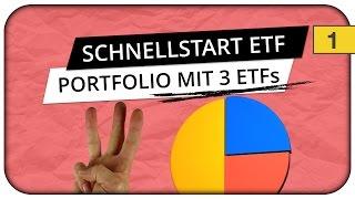 Börse für Anfänger - ETF-Portfolio mit 3 ETFs und 100€ -  Der Schnellstart 👏
