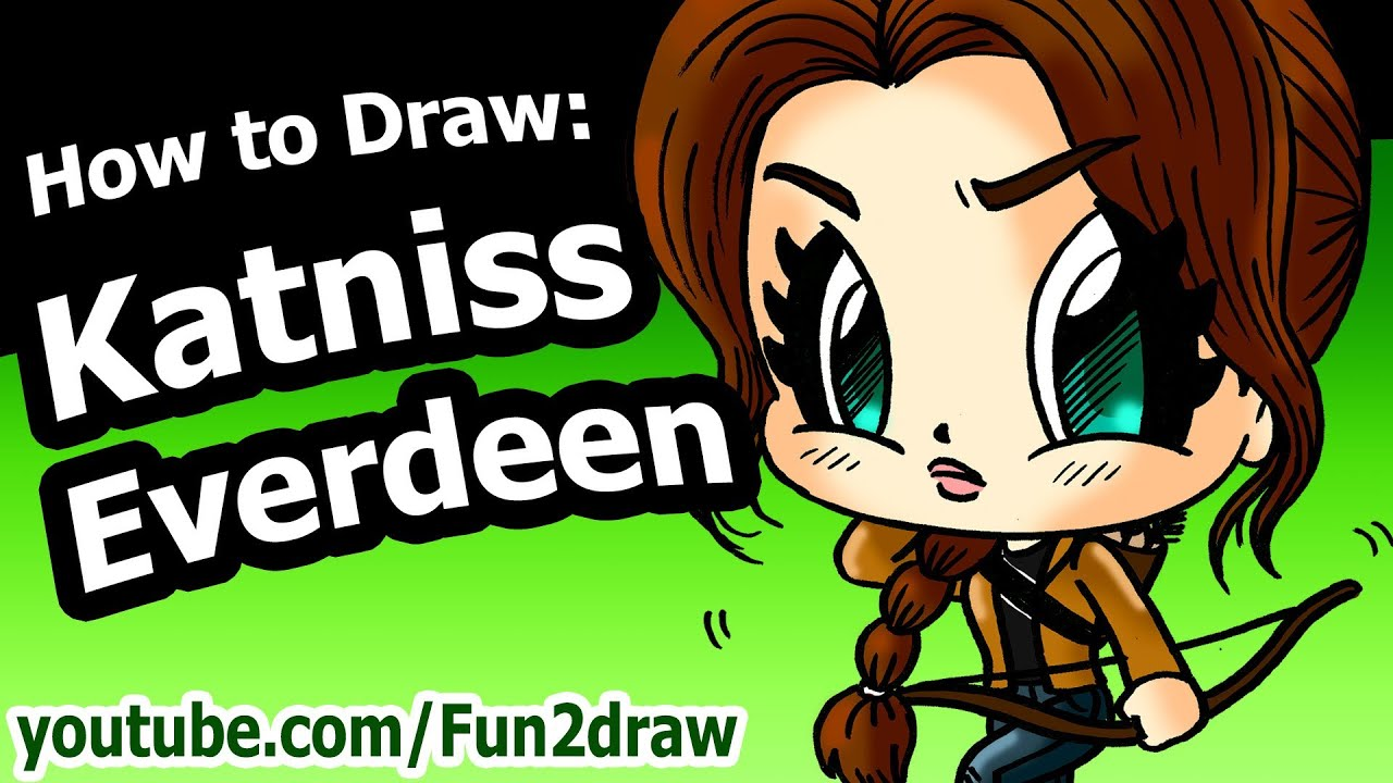 How to Draw Katniss Everdeen - Hunger Games - Fun2draw Drawing ...
